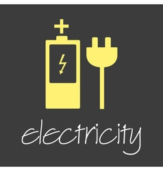 Electricity symbol and icon simple banner eps10 vector