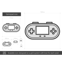 Gamepad line icon vector