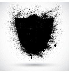 Grunge shield vector image vector image