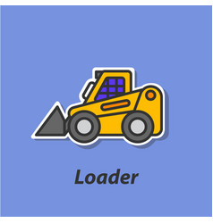 Loader color flat icon vector