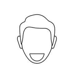 Man faceless smiling vector image