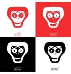 Monkey logotype template vector image