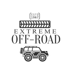 Off-road extreme club and rental black and white vector