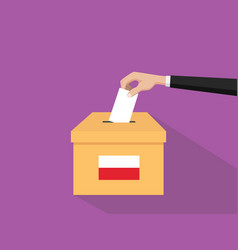 poland vote election concept with vector image vector image