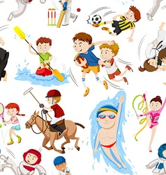 Seamless background with many sports vector