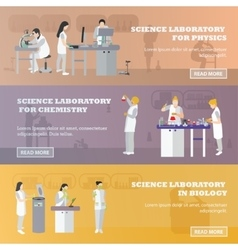 Set of medical laboratory banners vector