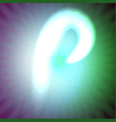 single light blue neon letter p of vector image vector image