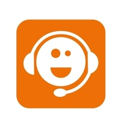 support headset face smiling vector image