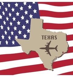 Texas air travel concept vector