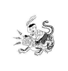 thai tradition tattoo vector image