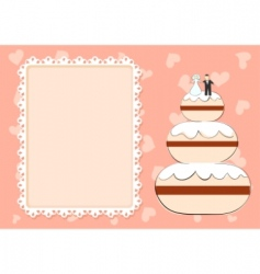 wedding cake vector image vector image