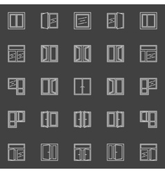 Windows linear icons vector image vector image