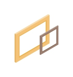 Wooden frame icon isometric 3d style vector image vector image