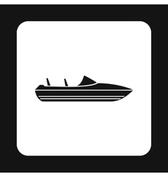 Speed boat icon simple style vector
