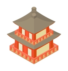 Pagoda icon cartoon style vector