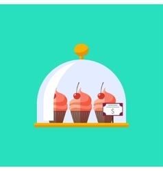 flat dessert food vector image