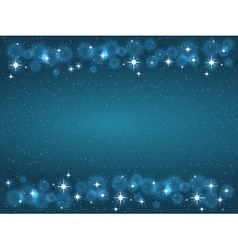 Frame with stars on the dark blue background vector image