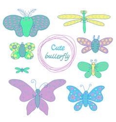 Cute butterfly vector
