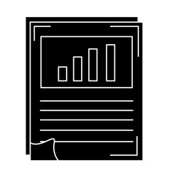 Paper document with statistics vector