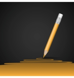 Yellow Pencil Drawing Line vector image