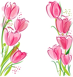 March tulips vector