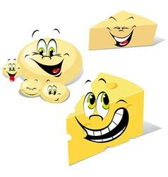 cheeses cartoon vector image