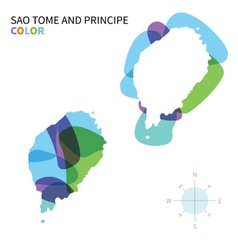 Abstract color map of sao tome and principe vector