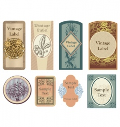 Vintage vector labels vector