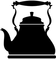 Kettle silhouette vector