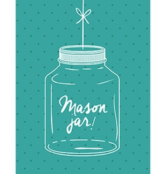 Mason jar design vector