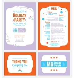 Colorful winter holiday party invitation vector