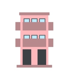 Two-storey house with balcony icon vector
