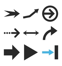 Direction arrows flat icon set vector