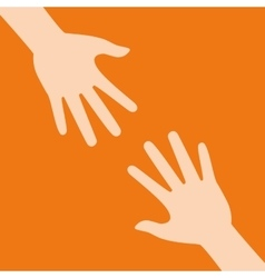 Help design human hand icon flat vector