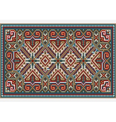 Design ethnic rug in bright colors vector