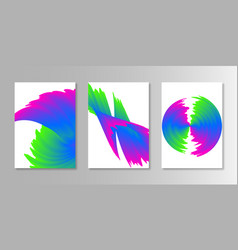 abstract covers cyan magenta colors backgrounds vector image vector image