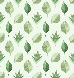 abstract seamless pattern of green leaves vector image vector image