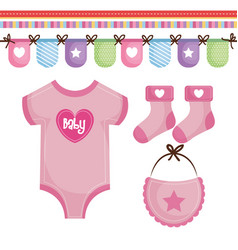 Baby clothing design vector
