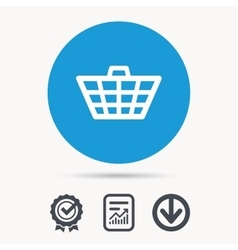 Basket icon Shopping cart sign vector image