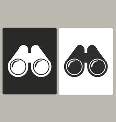 Binocular - icon vector