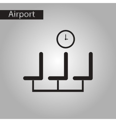 black and white style icon airport waiting room vector image