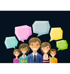 Brainstorming conversation talk chat vector image vector image