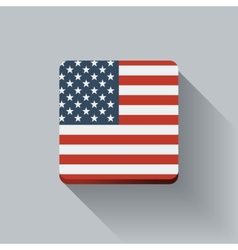 Button with flag of the USA vector image vector image