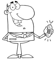 Cartoon businessman vector image vector image
