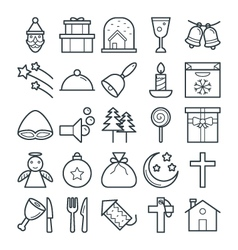 Christmas Cool Icons 3 vector image vector image