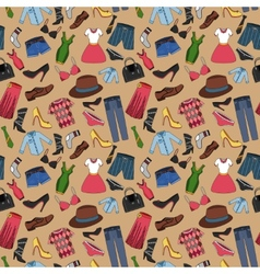 Clothes seamless pattern vector image vector image