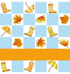 colorful autumn rain seamless vector image vector image