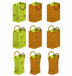 decorated bags vector image vector image