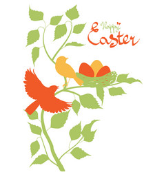 Easter background with birds vector