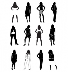 fashion models vector image